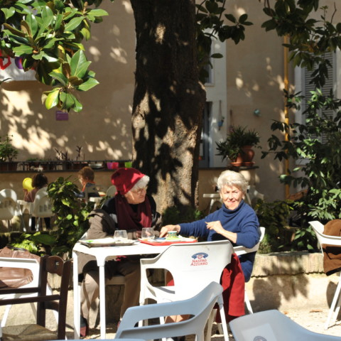 Le jardin de la casa internazionale delle donne est accessible à tous./©Marie Gendra